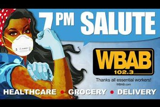 102.3 WBAB Salutes Front Line Workers at 7PM