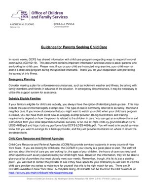 OFCS - Guidance for Parents Seeking Child Care